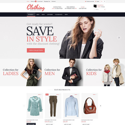 Clothing for Everyone OpenCart Template (OpenCart theme for clothing stores) Item Picture