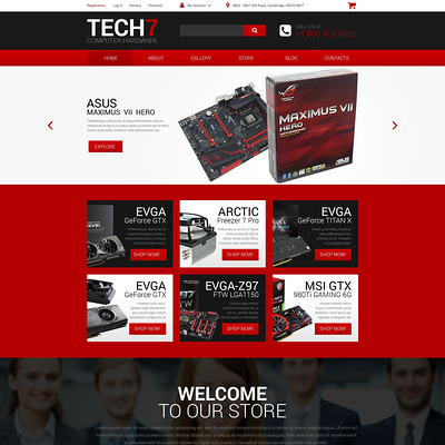 Computer Hardware WooCommerce Theme (WooCommerce theme selling computers and computer hardware) Item Picture