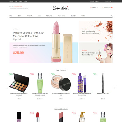 Cosmetorix (OpenCart theme for selling cosmetics, hair products, and perfumes) Item Picture