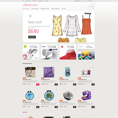 Crafts Responsive OpenCart Template (OpenCart theme for sewing and craft stores) Item Picture
