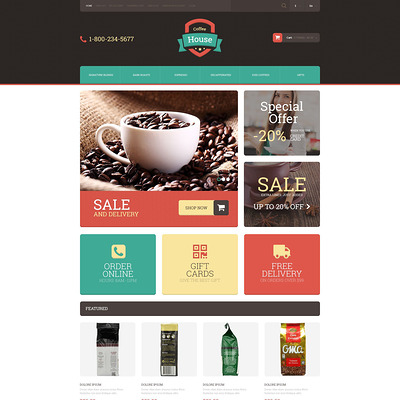 Drink Coffee OpenCart Template (OpenCart theme for selling tea and coffee) Item Picture