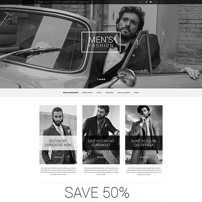 Elegance of Men's Style OpenCart Template (OpenCart theme for clothing stores) Item Picture