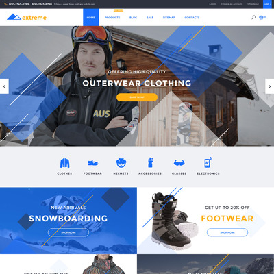 Extreme Shopify Theme (parallax Shopify theme) Item Picture
