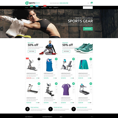 Fitness Store WooCommerce Theme (WooCommerce theme for sports, gym, and fitness stores) Item Picture
