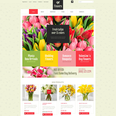Floristic Store WooCommerce Theme (WooCommerce theme for florists and gift stores) Item Picture