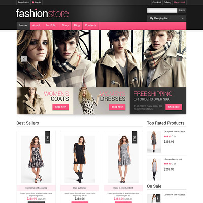 Getting Clothes Online WooCommerce Theme (WooCommerce theme for selling clothing for men and women) Item Picture