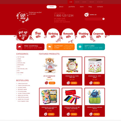 Gifts Store Responsive WooCommerce Theme (WooCommerce theme for florists and gift stores) Item Picture