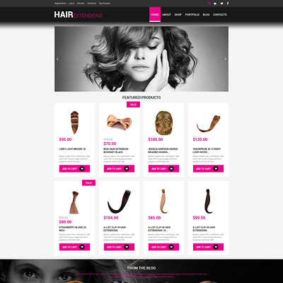 Hair Salon Responsive WooCommerce Theme (WooCommerce theme for selling perfumes, hair products, and cosmetics) Item Picture