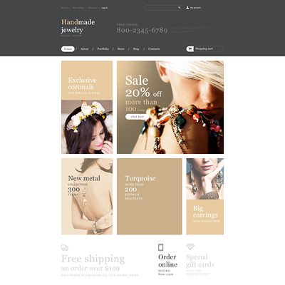 Handmade Jewelry Store WooCommerce Theme (WooCommerce theme for selling jewelry and watches) Item Picture