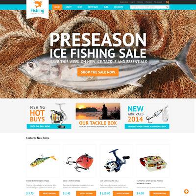 Hobby Fishing WooCommerce Theme (WooCommerce theme for marine, yachting, diving, and fishing stores) Item Picture
