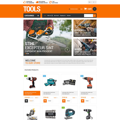 Householders Tools OpenCart Template (OpenCart theme for selling tools) Item Picture