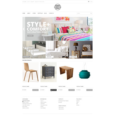 Interior Store WooCommerce Theme (WooCommerce theme for home decor and interior design stores) Item Picture
