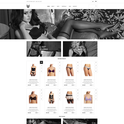 Intimate Apparel WooCommerce Theme (WooCommerce theme for selling lingerie and underwear) Item Picture