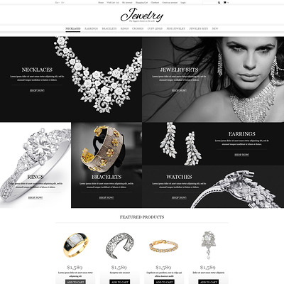Jewelry Online Shop OpenCart Template (OpenCart theme for selling jewelry and watches) Item Picture