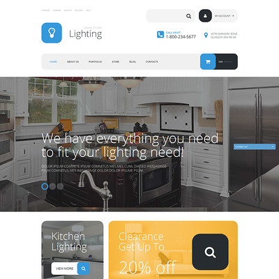 Lighting Store WooCommerce Theme (WooCommerce theme for home improvement and construction supplies) Item Picture