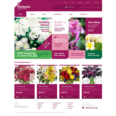 Live Flowers WooCommerce Theme (WooCommerce theme for florists and gift stores) Item Picture