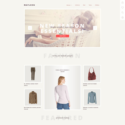 Mayleen OpenCart Template (OpenCart theme for clothing stores) Item Picture