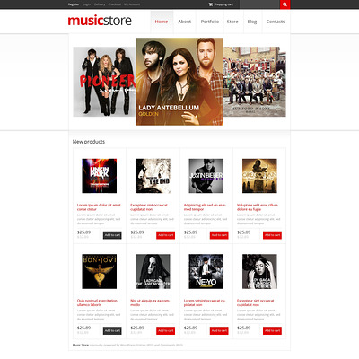 Music Store WooCommerce Theme (WooCommerce theme for music stores) Item Picture