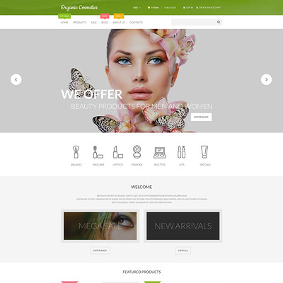 Organic Cosmetics Shopify Theme (parallax Shopify theme) Item Picture