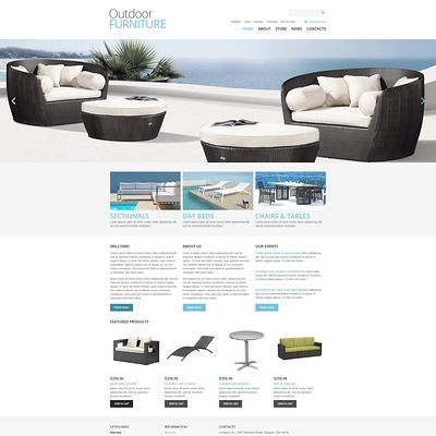 Outdoor Furniture WooCommerce Theme (WooCommerce theme for furniture stores) Item Picture