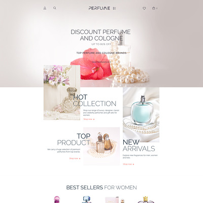 Perfume Shop WooCommerce Theme (WooCommerce theme for selling perfumes, hair products, and cosmetics) Item Picture