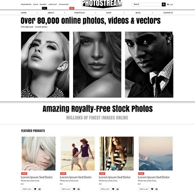 Photo Stock WooCommerce Theme (WooCommerce theme for selling stock photography) Item Picture