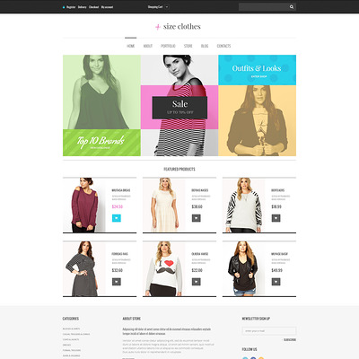 Plus Size Clothes WooCommerce Theme (WooCommerce theme for selling clothing for men and women) Item Picture