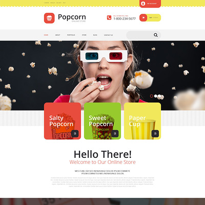 Popcorn Store WooCommerce Theme (WooCommerce theme for selling food and spices) Item Picture