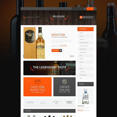 Refined Liquor Shop OpenCart Template (OpenCart theme for selling liquor, wine, and beer) Item Picture