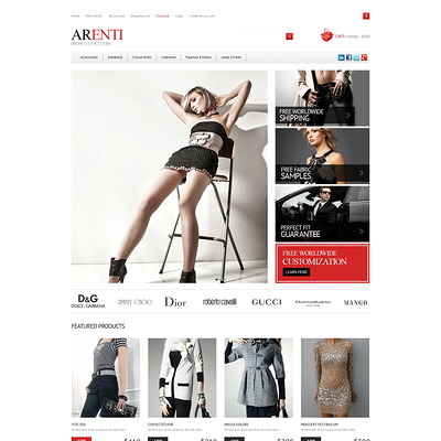 Responsive Clothes Store OpenCart Template (OpenCart theme for clothing stores) Item Picture