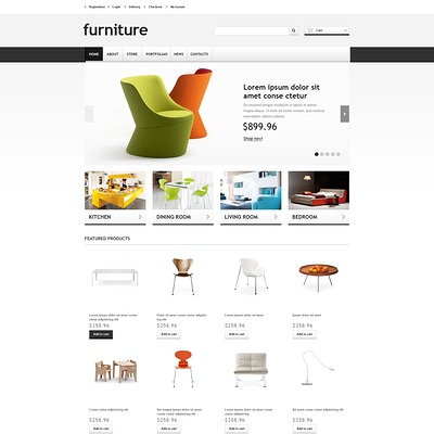 Responsive Furniture Store WooCommerce Theme (WooCommerce theme for furniture stores) Item Picture