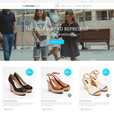 Shoe Store Responsive Shopify Theme (parallax Shopify theme) Item Picture