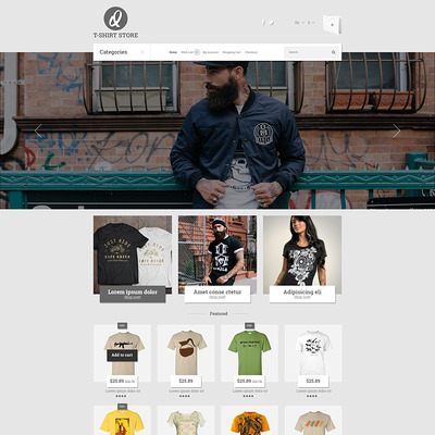 Smart Casual Style OpenCart Template (OpenCart theme for clothing stores) Item Picture