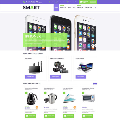 Smart Store Shopify Theme (parallax Shopify theme) Item Picture