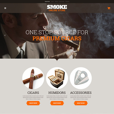 Smoke Shop WooCommerce Theme (WooCommerce theme for sell cigars, tobacco products, and e-cigarettes) Item Picture
