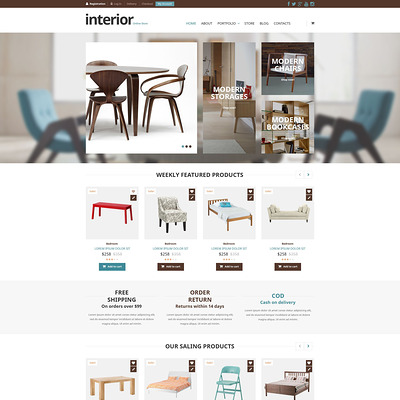 Special Furniture Store WooCommerce Theme (WooCommerce theme for furniture stores) Item Picture
