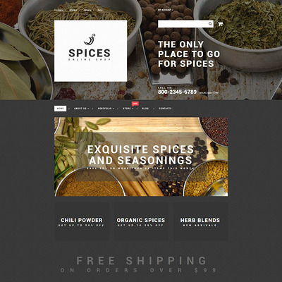 Spice Shop WooCommerce Theme (WooCommerce theme for selling food and spices) Item Picture