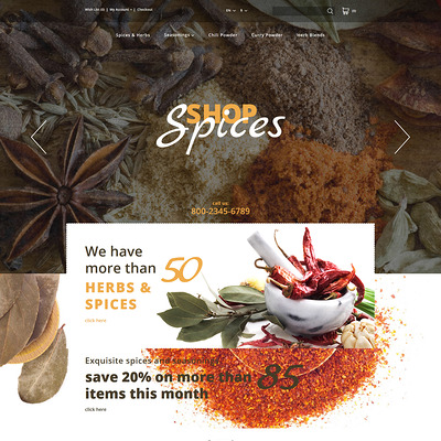 Spices Shop OpenCart Template (OpenCart theme for selling food and spices) Item Picture