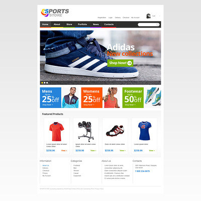 Sport Life WooCommerce Theme (WooCommerce theme for sports, gym, and fitness stores) Item Picture