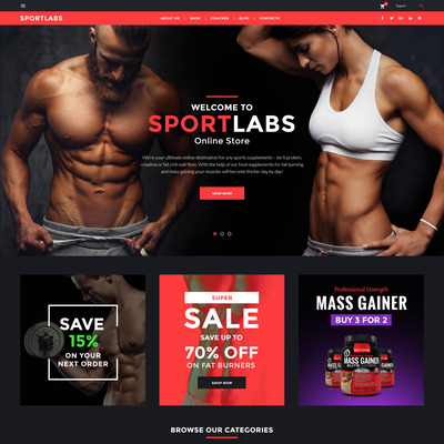 SportLabs WooCommerce Theme (WooCommerce theme for sports, gym, and fitness stores) Item Picture
