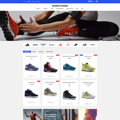 Sports Shoes OpenCart Template (OpenCart theme for sports, gym, and fitness stores) Item Picture