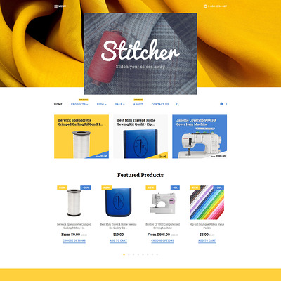 Stitcher Shopify Theme (parallax Shopify theme) Item Picture