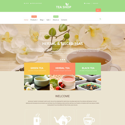 Tea Shop Shopify Theme (parallax Shopify theme) Item Picture