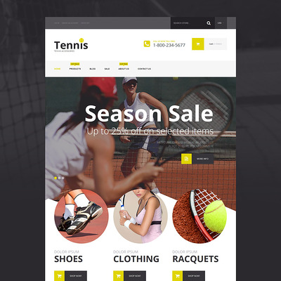 Tennis Accessories Shopify Theme (parallax Shopify theme) Item Picture