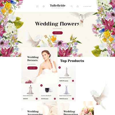 ToBeBride OpenCart Template (OpenCart theme for wedding stores) Item Picture