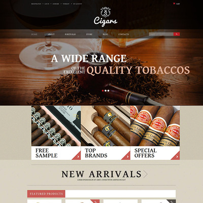 Tobacco Shop WooCommerce Theme (WooCommerce theme for sell cigars, tobacco products, and e-cigarettes) Item Picture