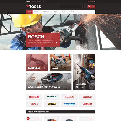 Tools WooCommerce Theme (WooCommerce theme selling tools) Item Picture