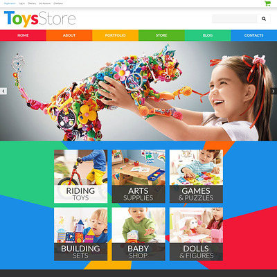 Toys for Kids WooCommerce Theme (WooCommerce theme selling toys for kids) Item Picture