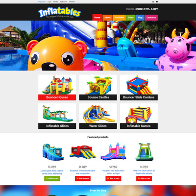 Trampolines Bouncers Store WooCommerce Theme (WooCommerce theme selling toys for kids) Item Picture