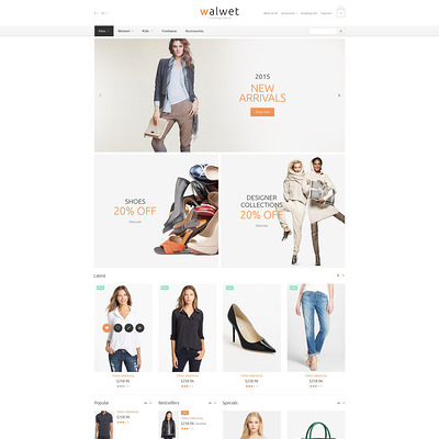 Trendy Clothes Store OpenCart Template (OpenCart theme for clothing stores) Item Picture